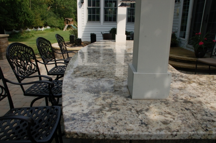 Detail of Granite Bar Top