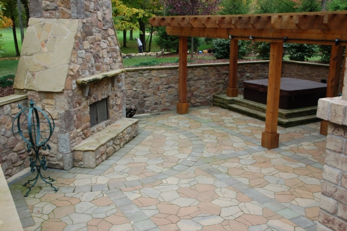 Executive retreat kgk gardening landscape design for Walkout basement patio ideas