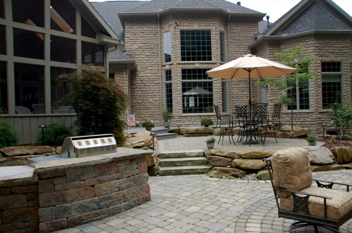 Main Dining & Entertaining Patio with Outdoor Bar & Grill