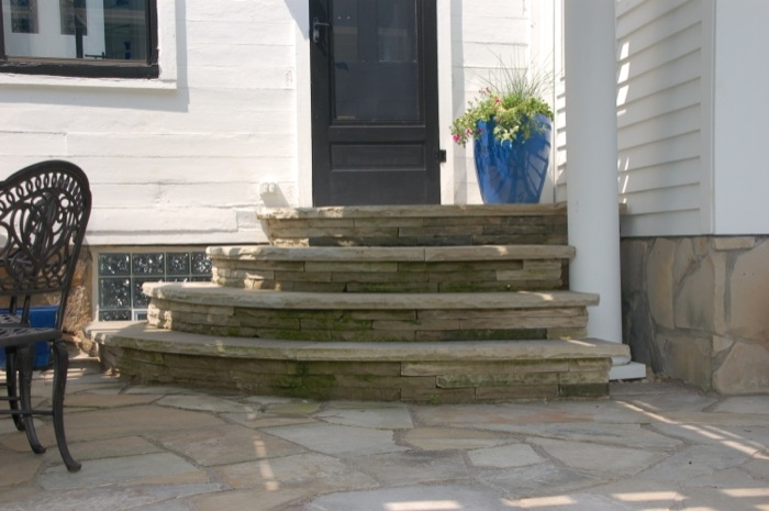 Sandstone Steps Leading to the Kitchen