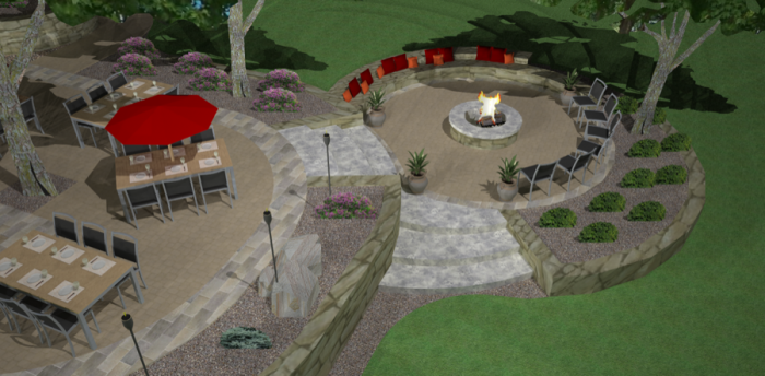 3D Design of Lower Patio