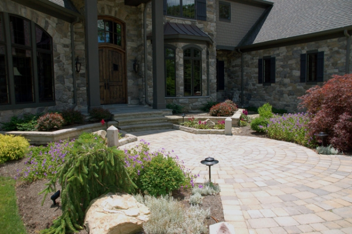 Front Entry with Plantings