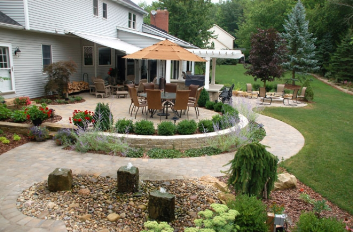 Birds Eye View of Outdoor Living Space