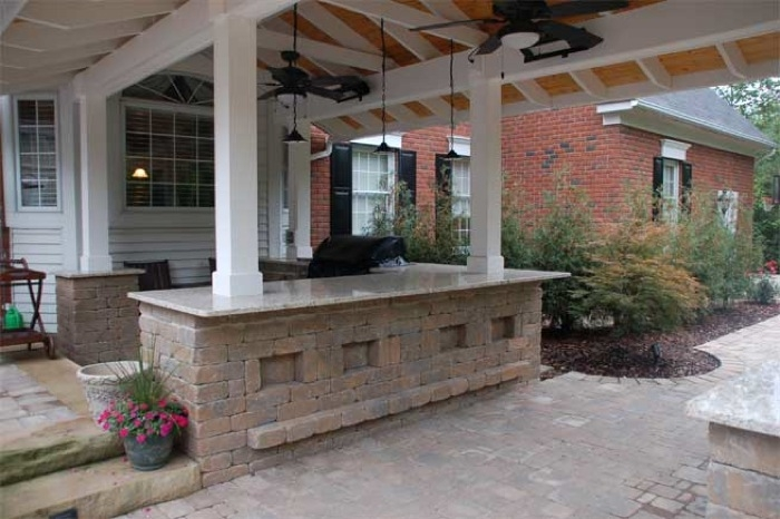 Outdoor Bar with Paver Inlay