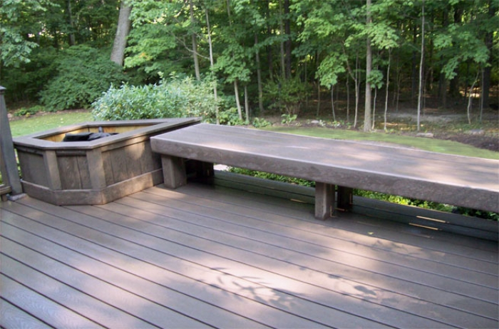 Remodeled Deck with Bench & Planter