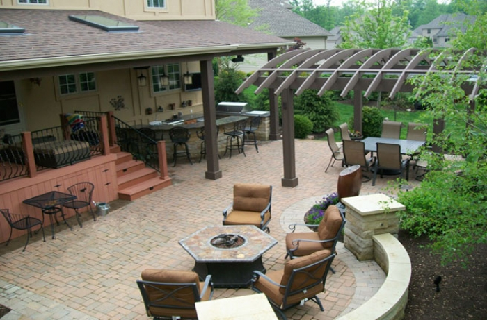 Overhead View of Outdoor Living Space