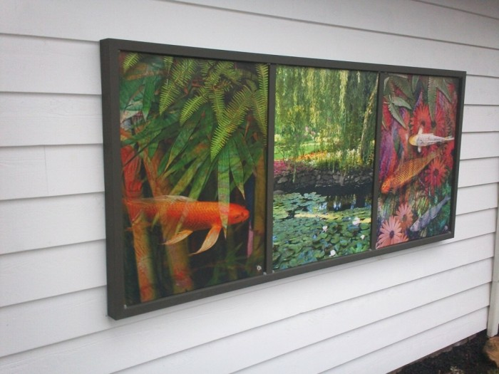 Collection of 3 Canvases Framed for Year Round Outdoor Enjoyment