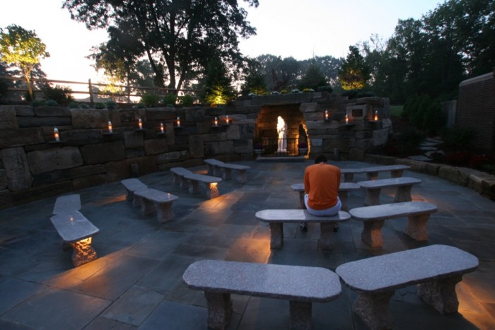 Granite benches and 12 Volt Lighting
