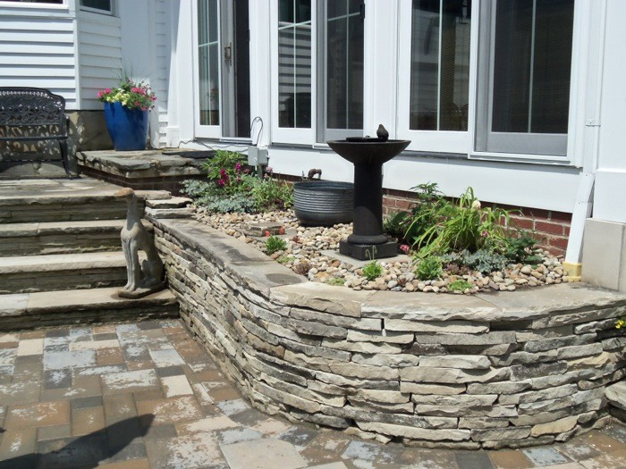 Detail of Antique Sandstone Retaining Wall