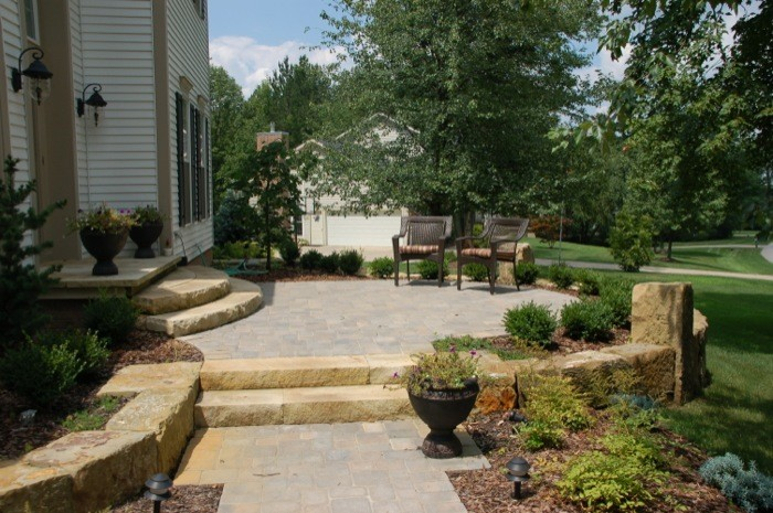 Sandstone & Paver Patio Front Entry