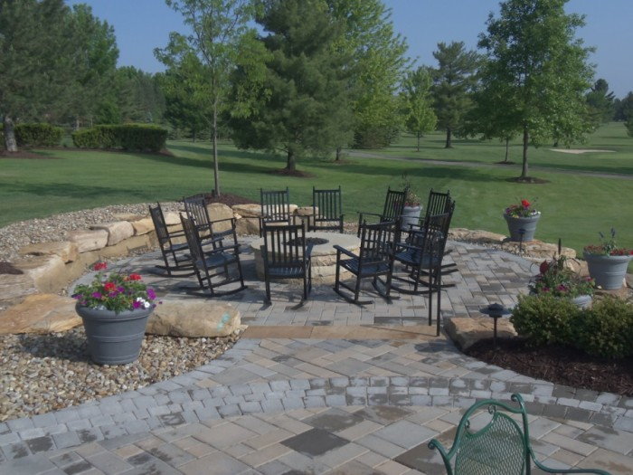 Lower Firepit Patio Attracts Social Gathering