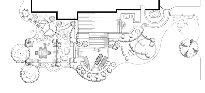 Back Yard Design Plan View