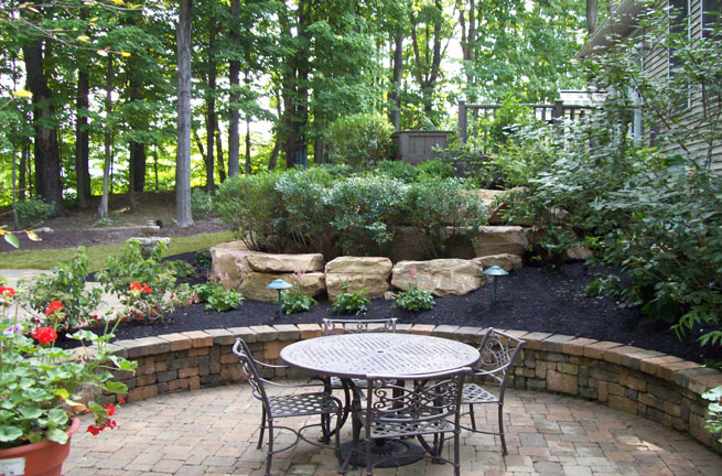 Dining Patio Located on the Lowest Level